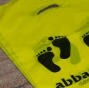 abbadabbas shoes custom printed plastic shopping bag