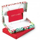 Christmas Gift Card Folder Box Red Green