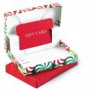 Christmas Gift Card Folder Box Red Green