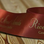 Ribbon - gold foil hot stamped printed ribbon