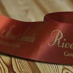 Ribbon - gold foil hot stamped printed ribbon