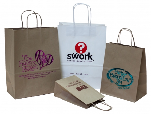Paper Shopping Bags: Printed, w/ handles, best seller for retail ...